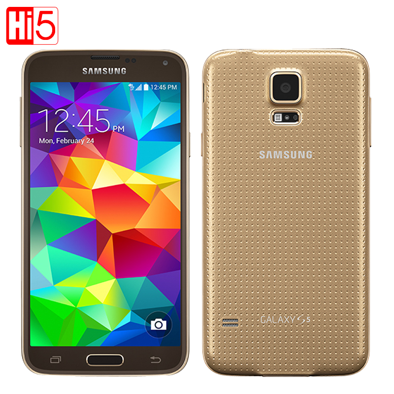 Original samsung galaxy s5 g900f android cell phone16g rom for Telephone portable a touches
