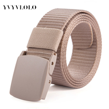 YVYVLOLO 2016 Designer Belts Men High Quality Canvas Outdoor Belt Military Equipment Cinturones Hombre Tactical Women Belt Brand