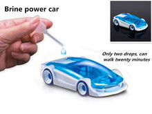 New Arrival Novel and wacky toy Diy Essembly Brine Power Car Novelty Toy Plastic Toys(China (Mainland))