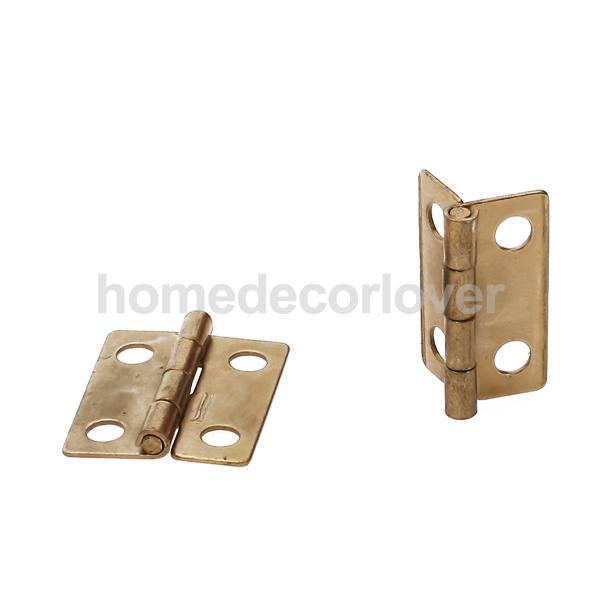 10pcs Mini Iron Cabinet Drawer Butt Replacement Hinge 0.75x0.6inch Repair Gadget(China (Mainland))