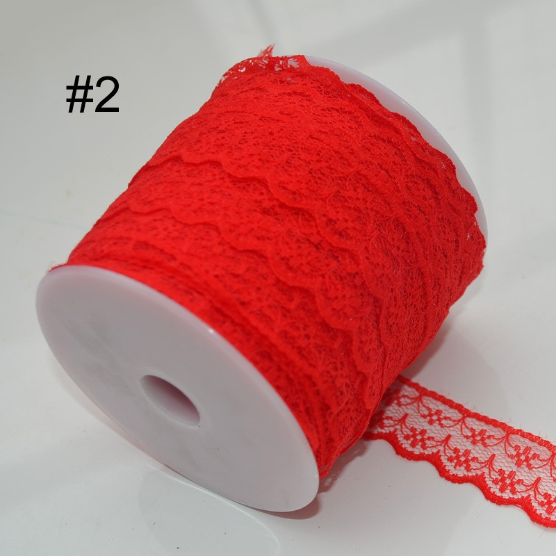 Lace Trim Embroidery Appliques Wedding, 100Yards/Roll 22MM 18 Color Lace Trim, Polyester Fabric Embroidered Lace RibbonLace Trim Embroidery Appliques Wedding, 100Yards/Roll 22MM 18 Color Lace Trim, Polyester Fabric Embroidered Lace Ribbon2.1
