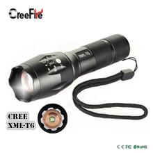 High Quality Professional 5 modes Zoomable XML-T6 LED Flashlight 3800LM Lumens lanterna Torch light(China (Mainland))