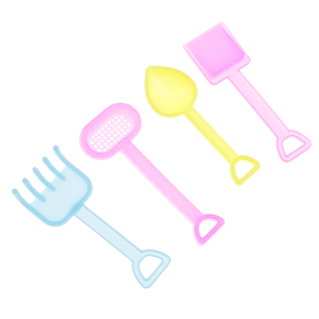 6 Pieces Plastic Garden Tools Watering Can for 1/6 Barbi Doll House Decor Accs Classic Furniture Toys Kids Xmas Birthday Gift