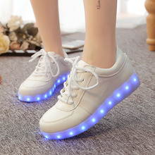 2016 Breathable Women Shoes Led Schoenen Casual Men Light UP For Adults Tenis Chaussure Lumineuse Zapatos Luminous Hommes Femme(China (Mainland))