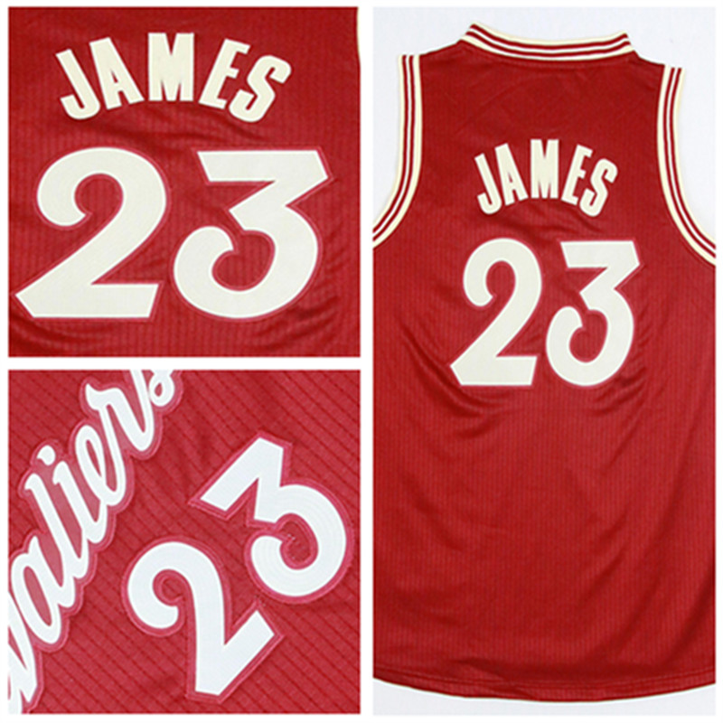 Red #23 LeBron James Kids/youth 2015-2016 Christmas Day Basketball Jersey,New Material Rev 30 Basketball jersey,S-XL Top quality(China (Mainland))