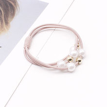 New Pearl Elastic Rubber Bands For Women Girls Elastic Hair Ties Ponytail Holder scrunchies Hair Rope Hair Accessories Head wear(China)