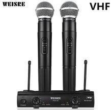 Weisre pgx58 УКВ Двойной Профессиональный Беспроводной микрофон с приемником для караоке микрофон партии КТВ Studio(China)