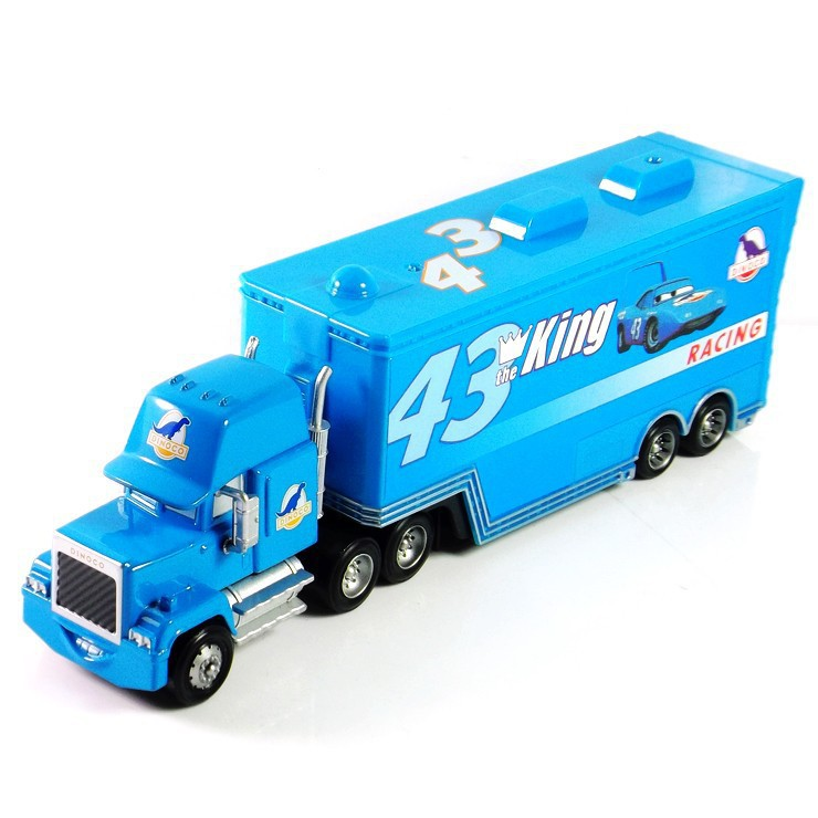 Pixar Cars 2 100% original mack truck blue NO.43 King 1:55 scale die-cast metal alloy model toy free shipping children's gifts(China (Mainland))