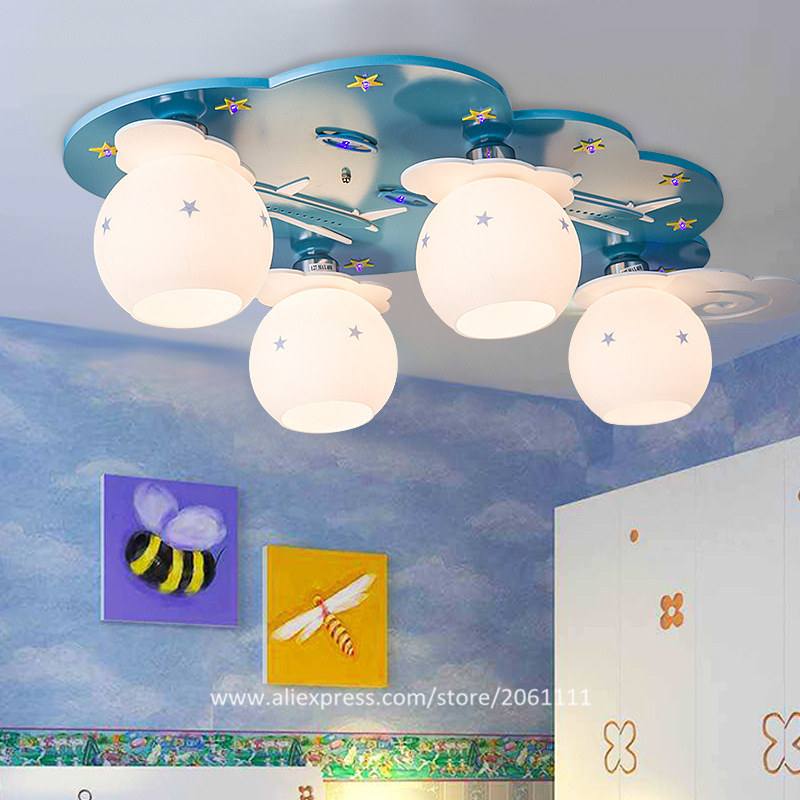 New arrival decorative child safe lamps boys room light fixture led cartoon ceiling lights for living room, children's bedroom(China (Mainland))