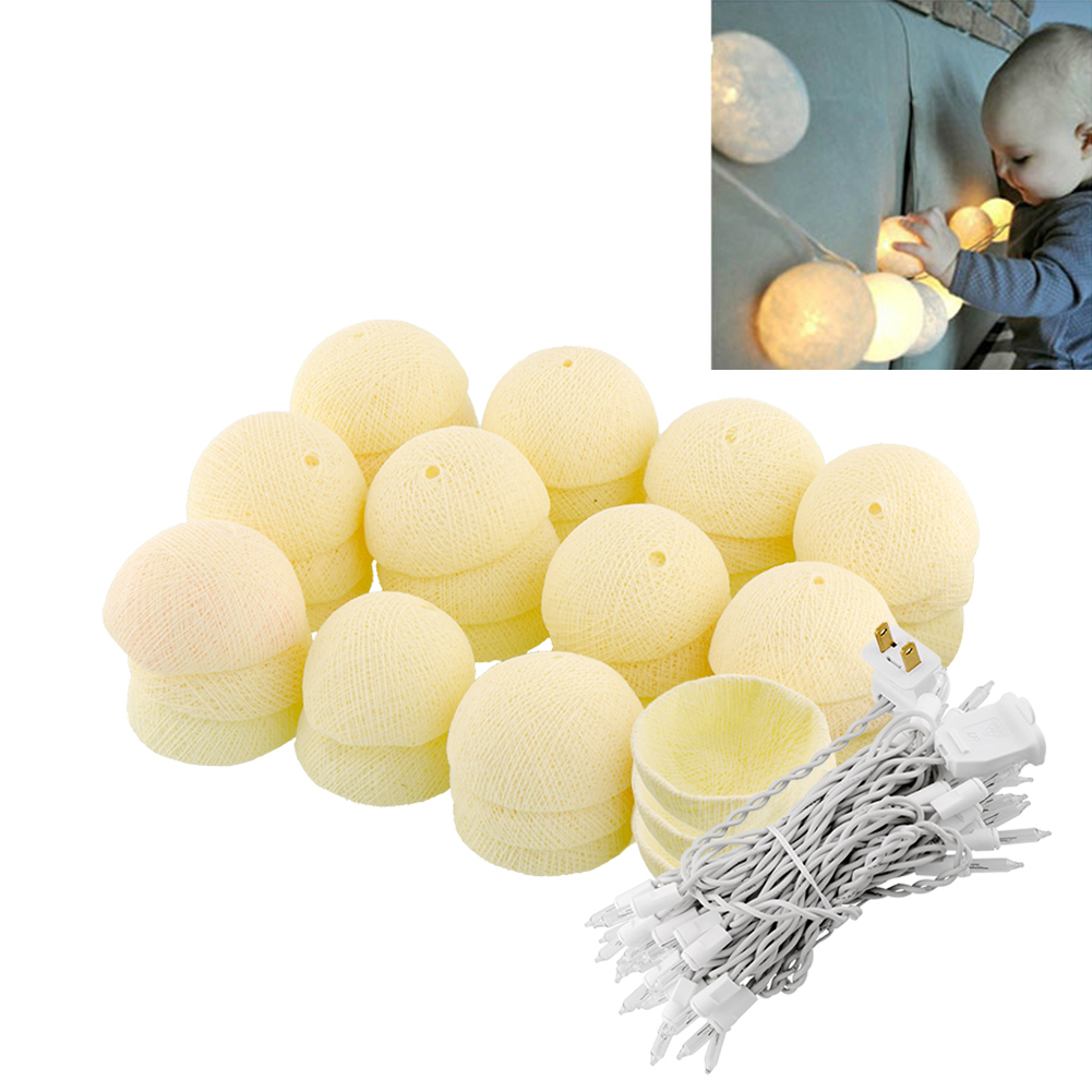 35 Aladin Romantic Cotton Ball Gorgeous String Light Ivory White Party Christmas Tree Decor Decoration<br><br>Aliexpress