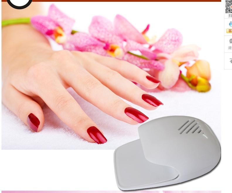 Hot sale mini uv nail dryer Battery power led lamp nail dryer 2pcs portable mini nail polish nail dryer for finger&toe(China (Mainland))