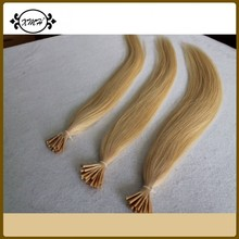 2015 Cheapest 7A Peruvian Pre bonded Hair Extension Straight I Tip hair Extension100 strands/pcs Remy Peruvian I Tip Hair(China (Mainland))
