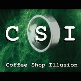 Free shipping coffee shop illusion magic trick 2pcs/lot for magic prop wholesale(China (Mainland))