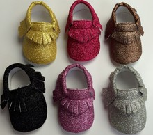 wholesale new metallic color Baby Girls Shoes First Walkers PU Leather Baby moccasins Soft Sole Non-slip bottom Fringe Shoes(China (Mainland))
