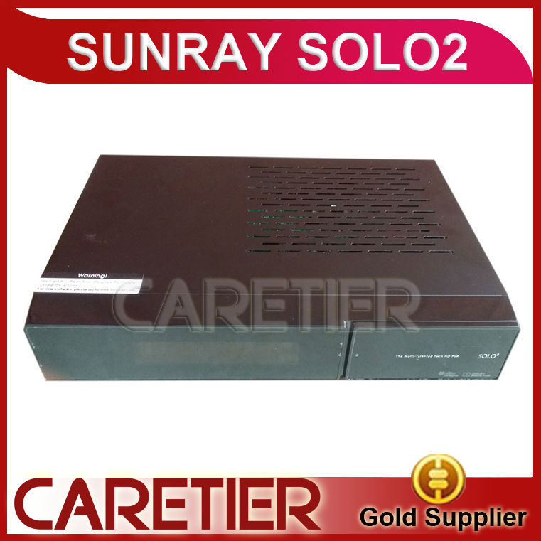 Sunray Solo 2 Twin Tuner Decoder HD Linux solo 2 new version sim V2 Enigma 2 Satellite Receiver Solo2 Sunray by DHL(China (Mainland))