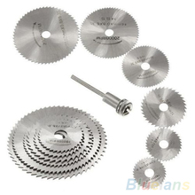7Pcs HSS Rotary Tools Circular Saw Blades Cutting Discs Mandrel Cutoff Cutter Power tools multitool 1ON7 1ORZ