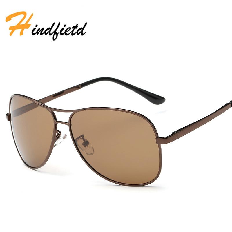 Men Fashion Pilot Sunglasses Polarized UV400 Metal Frame Driving Eyewear Brand Designer Glasses New Luxury Men Sunglasses(China (Mainland))