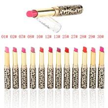 12Pcs/set Leopard Long Lasting Lipstick Moisturize Bright Nude Lip Gloss Pencil Balm(China (Mainland))