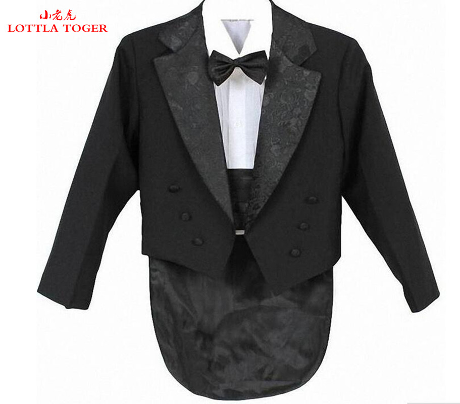 Elegant Fashionable Kid Boy Wedding Suit / Boys' Tuxedo / Boy Blazers / Gentlemen Boys Suits For Weddings (Jacket + Pants + Tie(China (Mainland))