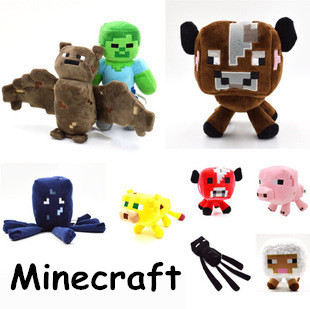 Minecraft Enderman Plush Toy18PCS Cute Minecraft Animal Patterns Plush Soft Toy Stuffed Doll Kids Gift(China (Mainland))