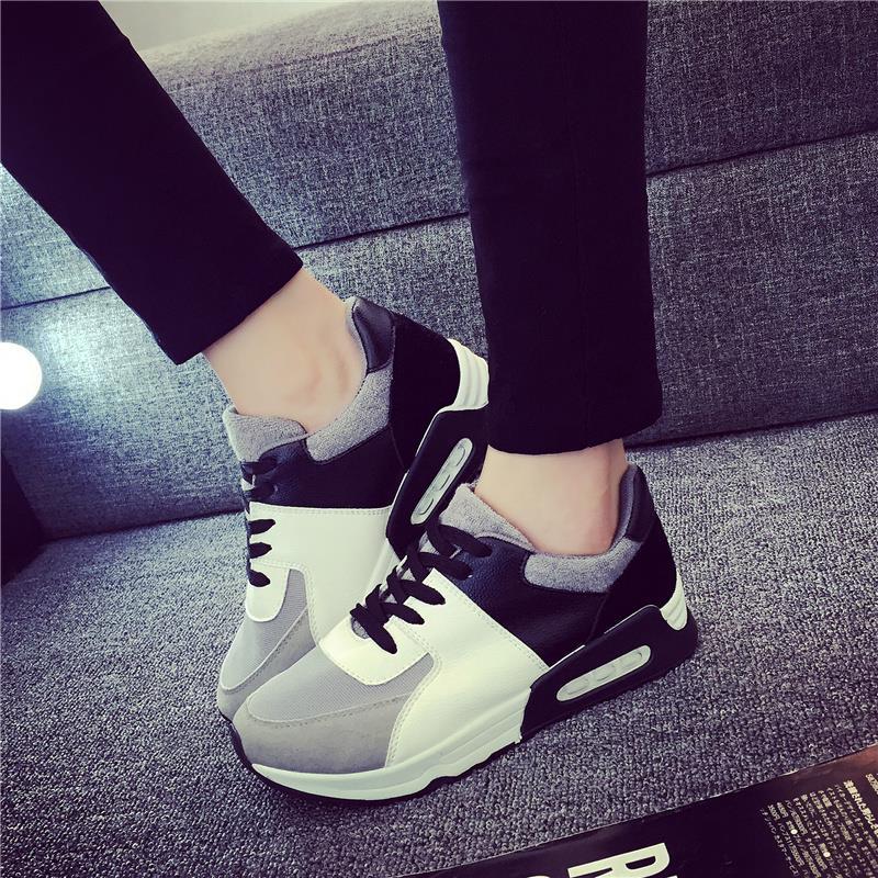 2016 yeni 2016 İlkbahar & sonbahar kadın rahat ayakkabılar moda nefes kadın düz topuk rahat kız ayakkabı ağ artı boyutu