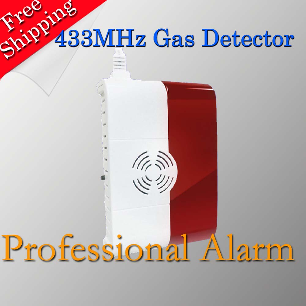 2015 New Free Shipping Gas Sensor It Will Alarm When Detect Gas 433MHz Cheap Beautiful Popular In Market(China (Mainland))