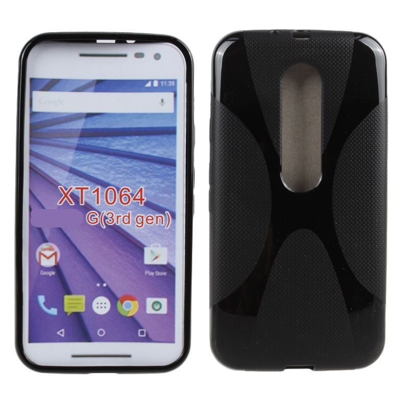Soft Anti-Skid X Shape Silicone Rubber TPU Gel Case Cellphone Cover Skin for Motorola Moto G X 3rd Gen 2015 G3 X3 XT1064C01(China (Mainland))