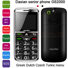 Original Daxian GS2000 MTK6250 Cheap Cell Phone 1500mAh Bluetooth 0 3 MP Mobile Phone For Old