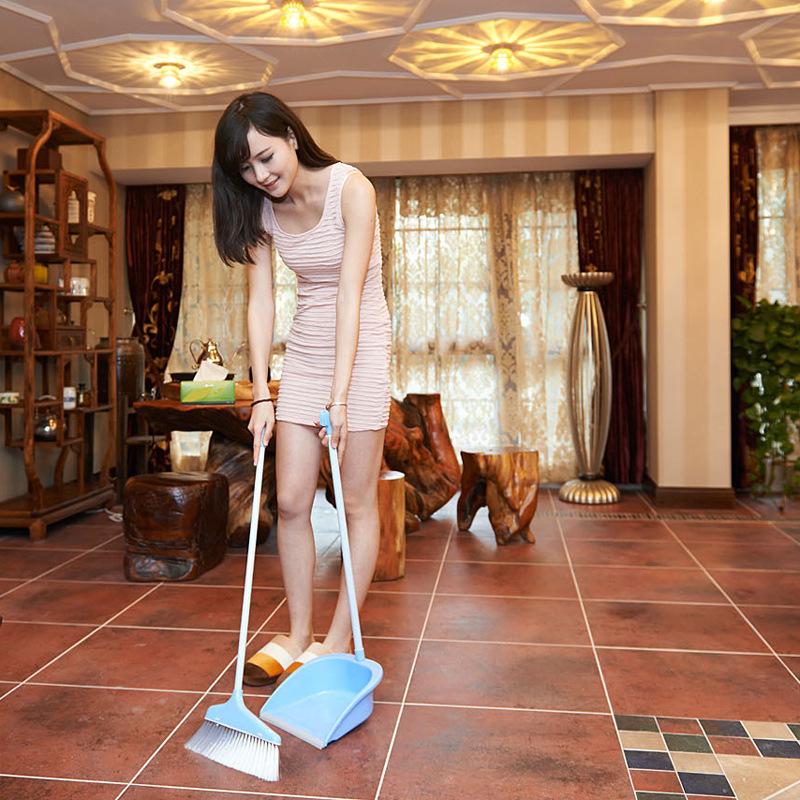 HSBC Serco plastic broom dustpan combination suit indoor soft Mao Qingjie good assistant simple combination(China (Mainland))