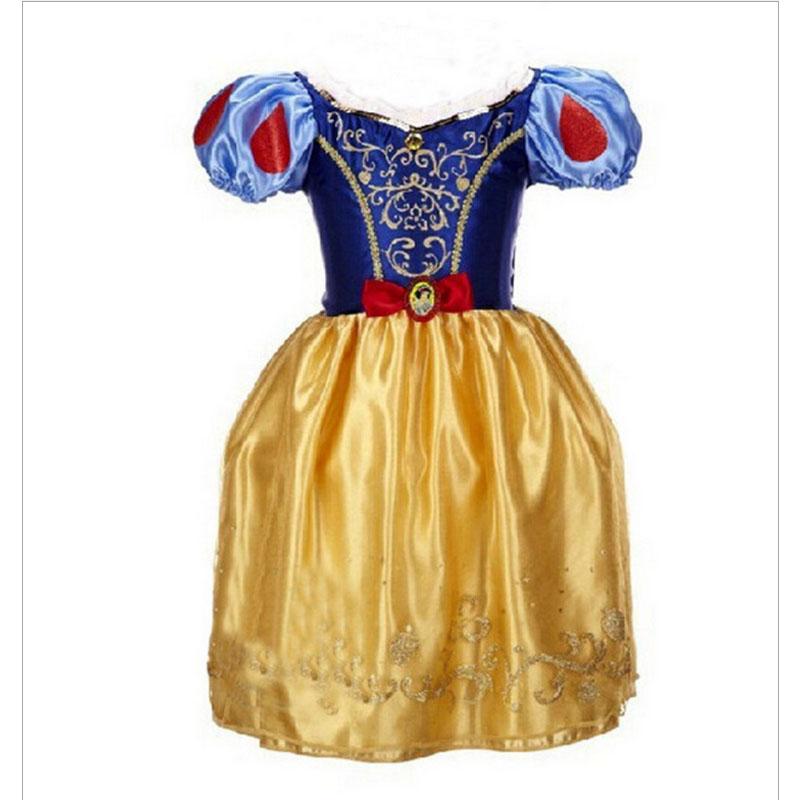 Free Shipping Baby Girls Cinderella Dresses Children Cartoon Princess Dresses Rapunzel Aurora Kids Party Costume Clothes YY1594