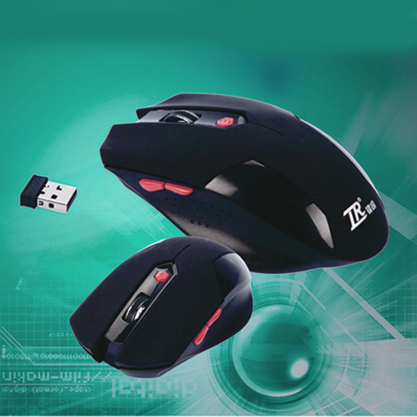 New 2014 HOT Sale Free Shipping 6Keys USB Wireless Gaming Mouse Optical Computer Game Mouse 2.4G WIFI Wireless Mouse For Gamer(China (Mainland))