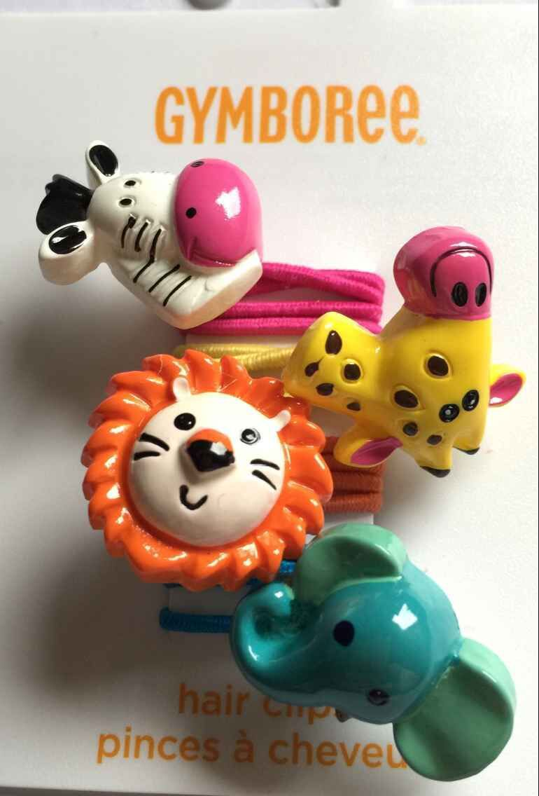 60pcs/Lot Kids baby infant Girl's Gymboree Hair Ropes giraffes cows Lion Elephant Elastic Hair Rings for girls hair accessories(China (Mainland))