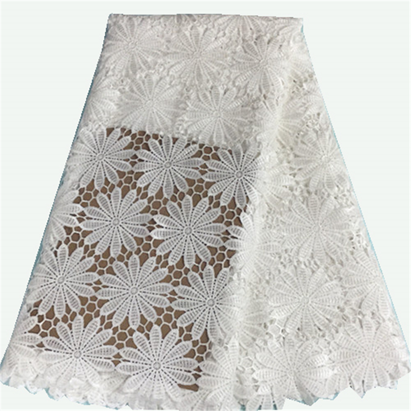 African george lace fabric in white color for wedding for White lace fabric for wedding dresses