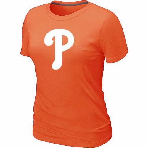 MLB Philadelphia Phillies Heathered Orange Women's Nike Blended T-Shirt