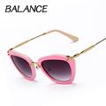 BALANCE Luxury Butterfly Sunglasses women brand designer Alloy frame Sun Glasses Vintage Cat Eye pentagram Eyewear