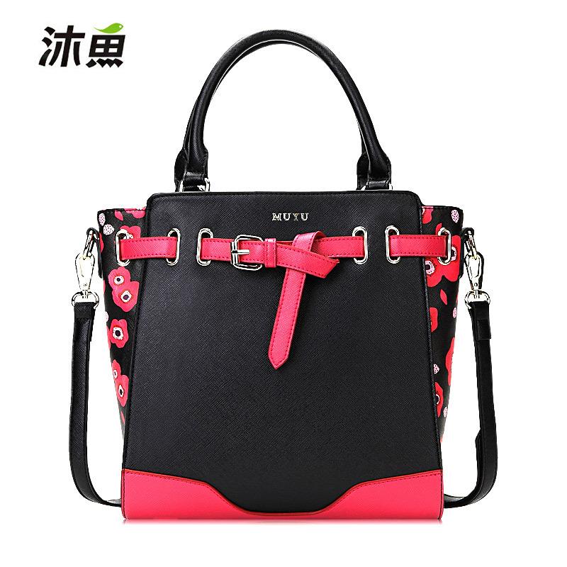 fashion high quality autumn Rivet Crossbody stamp one shoulder bags women PU leather handbags messenger bags women handbag(China (Mainland))