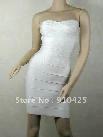 Free Shipping New style Women HL Bandage Dress Evening Dress Party Dress H021 White
