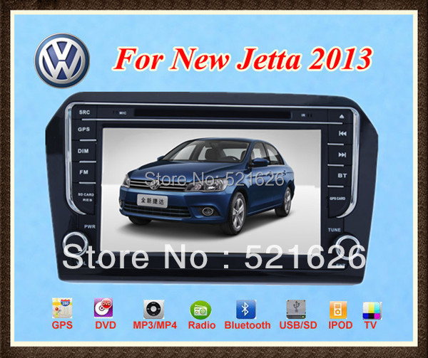 Car DVD Player for VW VOLKSWAGEN New Jetta 2013  with GPS  IPOD Bluetooth  High definition touch screen+Free  CCD gift