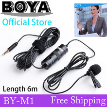 BOYA Omnidirectional Camera Lavalier Microphone for Canon Nikon Sony iPhone 6 Plus 5 DV DSLR Camcorder&Audio Recorders Amplifier(China (Mainland))