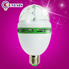 Christmas Festival led stage light disco E27 RGB bulb Full Color 3W projector Crystal Magic DJ lights dance party effect Lamp(China (Mainland))