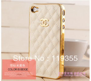 10pc/lot Case For 4S Cell Phone Case for iphone 4 Fashion Luxury Design Back Designer Cover and Leather Case for iPhone4