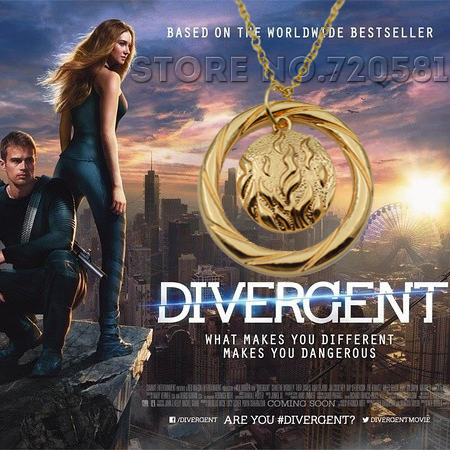 Divergent Amity Abnegation Candor Erudite Dauntless five factions pendant necklace Eye Balance Hand Fire Tree collar men women(China (Mainland))