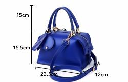 Women Luxury Designer Sapphire Handbag Occident Style Fashion Classic Boston Bag Ladies PU Leather Exquisite Shoulder Bag