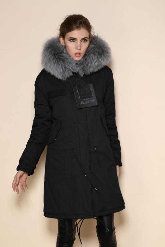 2016 faux fur lined parka fox fur coat fur jacket mr mrs fur parka ladies 7 colorful raccoon military winter coat(China (Mainland))