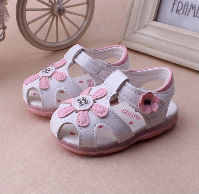 Summer Baby Girls Sandals Infant Shoes For Girls Toddler Shoes With Flower Little Children'S Sandals Little Kids Baby Shoes(China (Mainland))