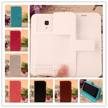 New Dirt-resistant Flip Leather Silicon Soft Back Cover 6 Colors Phone Cases For innos D6000 case