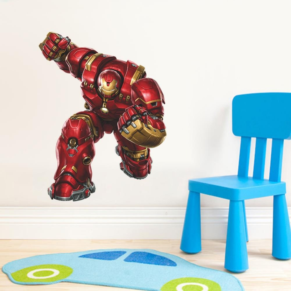 Creative The Avengers Poster Iron Man Wall Stickers