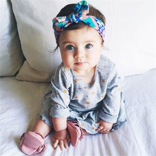 Buy Fashion Baby Girl Headwraps Top Knot Printed Headband Children Infants Ears Bow Hairband Turban Baby Hair Accessories 1pc HB012 for $1.00 in AliExpress store