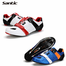 SANTIC Bicycle Shoes Carbon Fiber Road bike Shoes Auto-lock Athletic Ultralight Breathable Road Bicycle Shoes Cycling Equipment(China (Mainland))