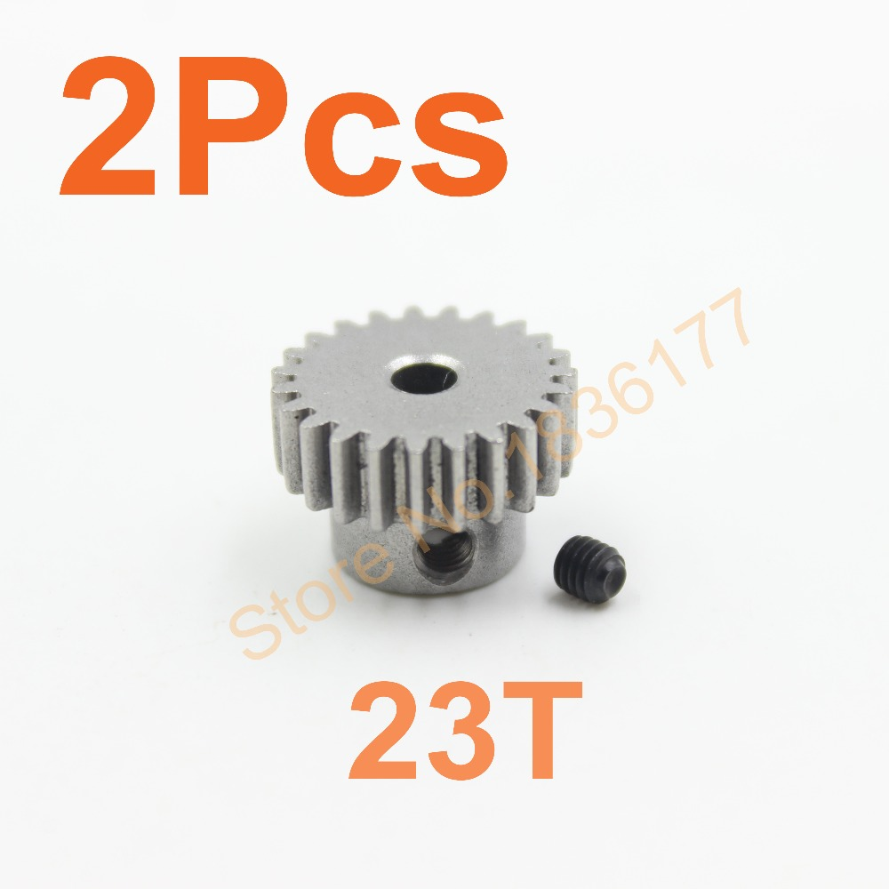 2pc/lot Motor Gear 23T 48P HSP Spare Parts Upgrade Parts Pinion Metal gear TRAXXAS Himoto Redcat HPI RC Model Car Al